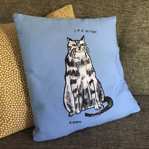 Rubyetc Cat Drawing Pillow Cover